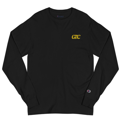 Gold GTC Embroidered Men's Champion Long Sleeve Shirt