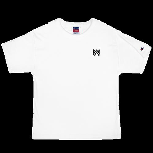 Mayhem Black Logo Emrbroidered Men's Champion T-Shirt