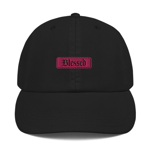 Pink Blessed Champion Dad Cap