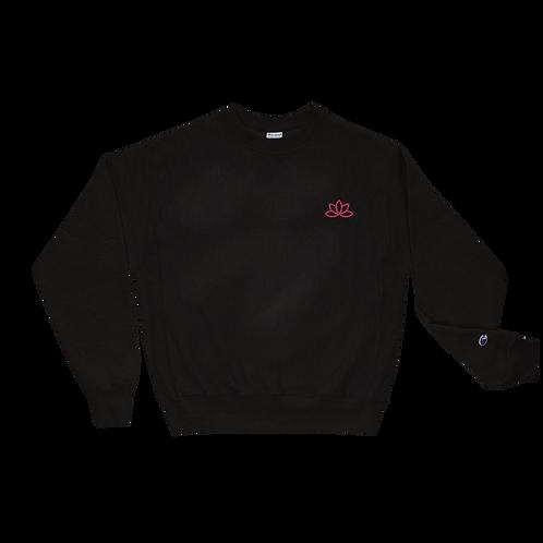 Lotus Pink Embroidered Champion Sweatshirt