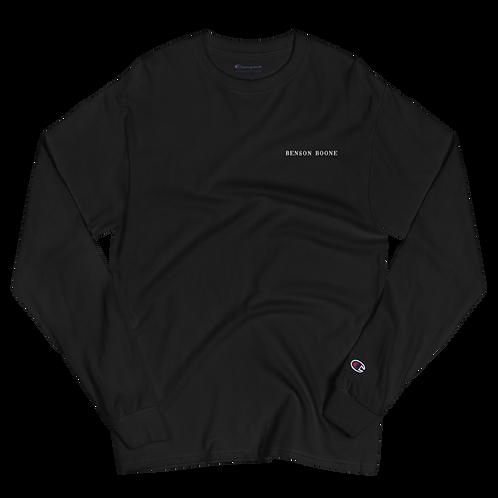 Benson Boone Embroidered Men's Champion Long Sleeve Shirt