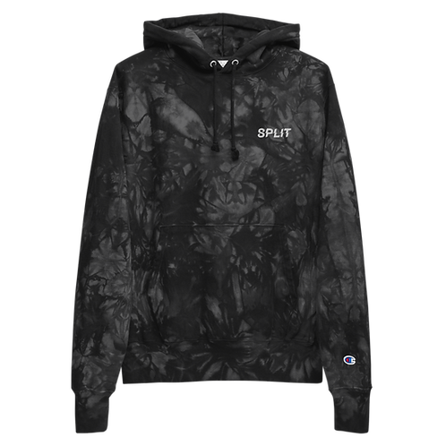 Split Unisex Champion tie-dye hoodie