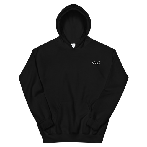 NVE White Embroidered Unisex Hoodie
