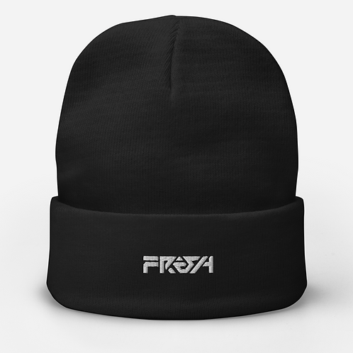 Fresh Text Embroidered Beanie