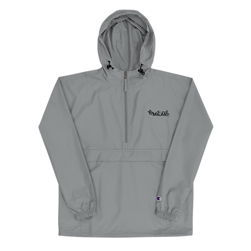 Milam Black Embroidered Champion Packable Jacket