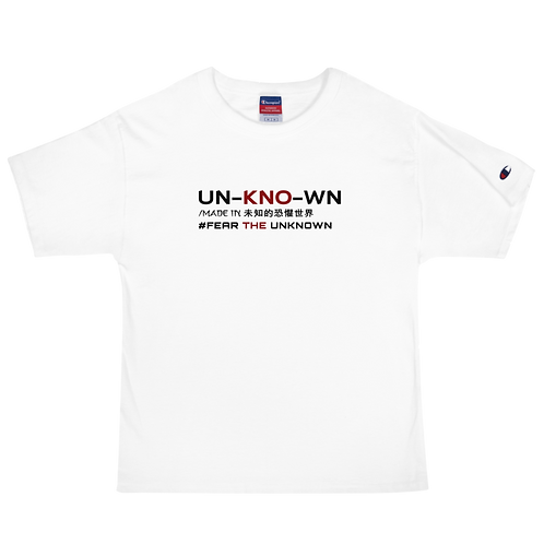 Fear the Unknown Men's Champion T-Shirt
