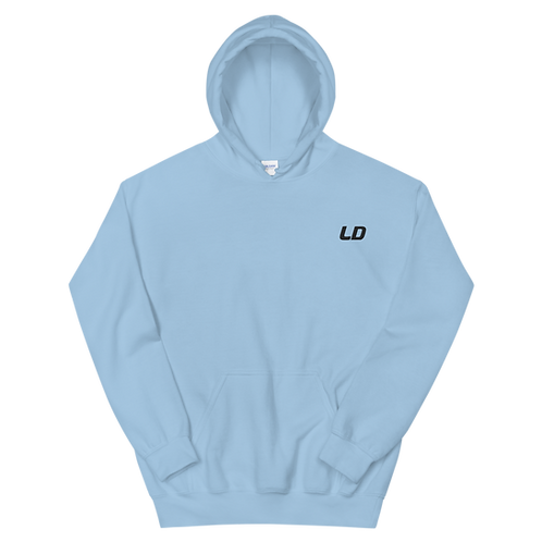 LD Embroidered Light Blue Unisex Hoodie copy