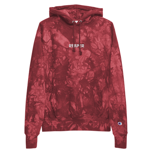 Reaper Embroidered Unisex Champion tie-dye hoodie