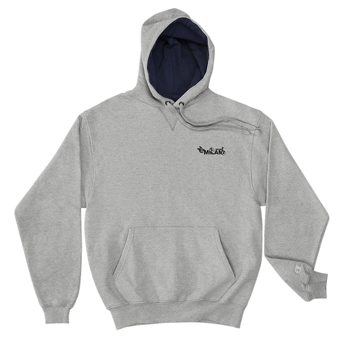 Milam Black Embroidered Champion Hoodie