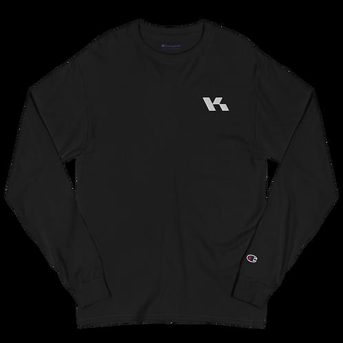 Kazzop Embroidered Men's Champion Long Sleeve Shirt