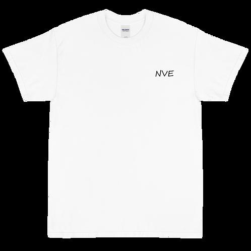 NVE Black Embroidered Short Sleeve T-Shirt