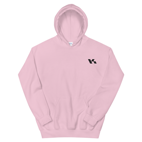 Kazzop Embroidered Light Pink Unisex Hoodie