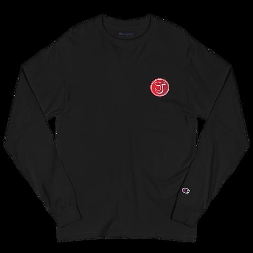 Jarred Holland Red Logo Men's Champion Long Sleeve Shirt