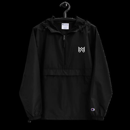 Mayhem White Logo Embroidered Champion Packable Jacket