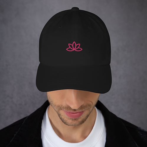 Lotus Pink Embroidered Dad hat