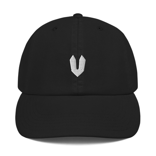 White Embroidered Champion Dad Cap
