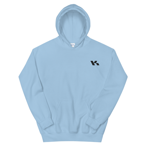 Kazzop Embroidered Light Blue Unisex Hoodie