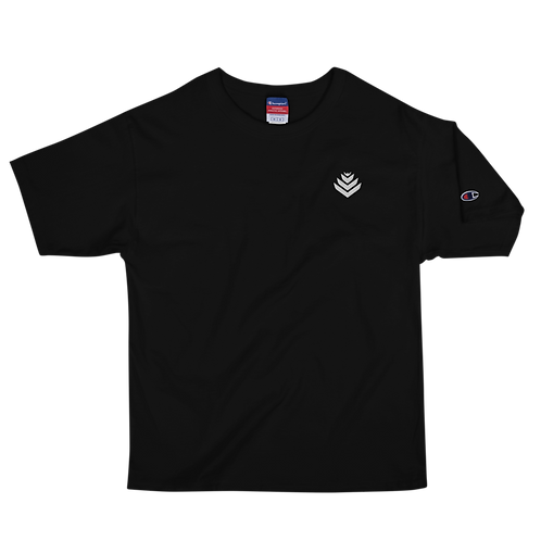 United White Embroidered Men's Champion T-Shirt