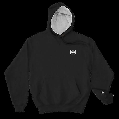 Mayhem White Logo Embroidered Champion Hoodie