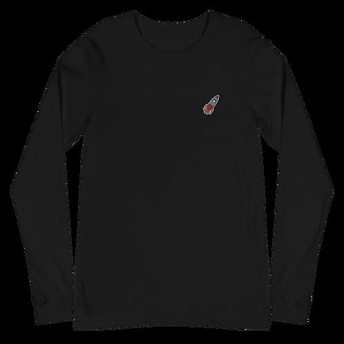 Rocket Embroidered Unisex Long Sleeve Tee