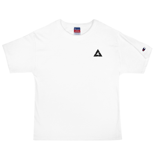 Ace Black Embroidered Men's Champion T-Shirt
