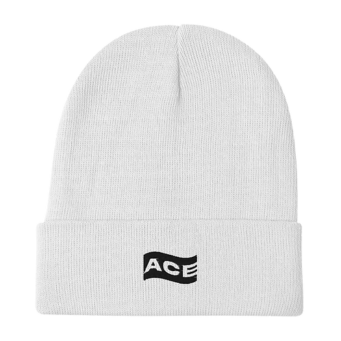 Ace Wavy Embroidered Beanie