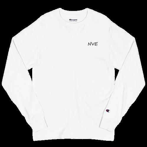 NVE Black Embroidered Men's Champion Long Sleeve Shirt