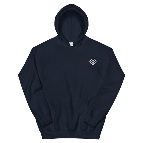 United White Embroidered Unisex Hoodie