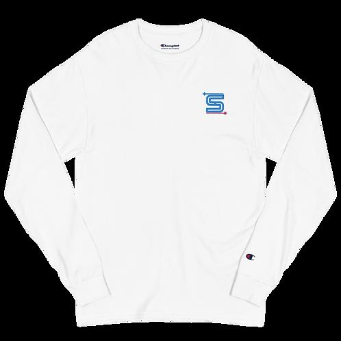 Syzygy Logo Embroidered Men's Champion Long Sleeve Shirt