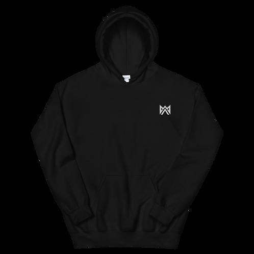 Mayhem White Logo Emrbroidered Unisex Hoodie