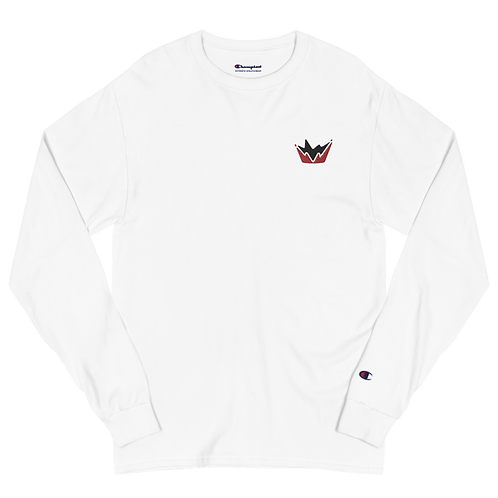 Talent Red & Black Logo Embroidered  Men's Champion Long Sleeve Shirt