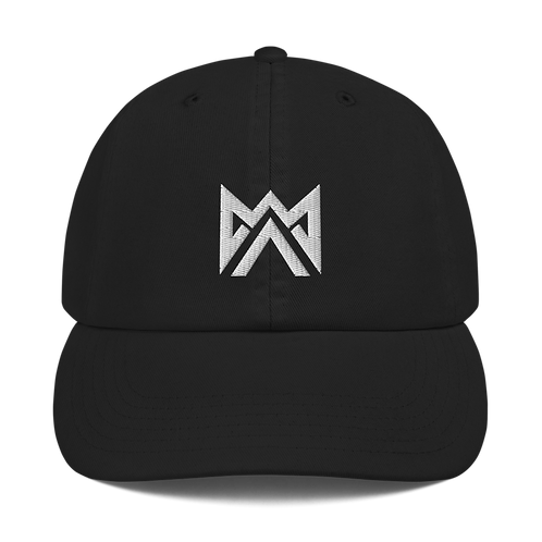 Mayhem White Logo Embroidered Champion Dad Cap