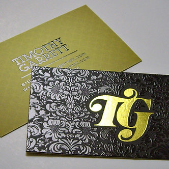 FOIL STAMP W/ UV SPOT SILK BUSINESS CARD