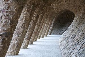 Gaudi Park Guell Barcelona Spain columns