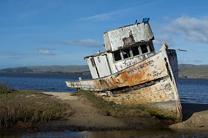 Poin Reyes California boat wreck