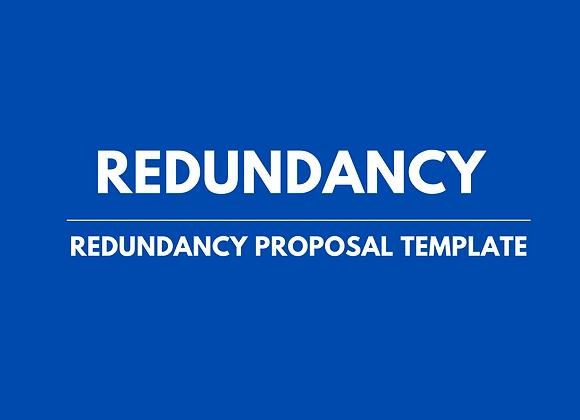 Redundancy Proposal Template