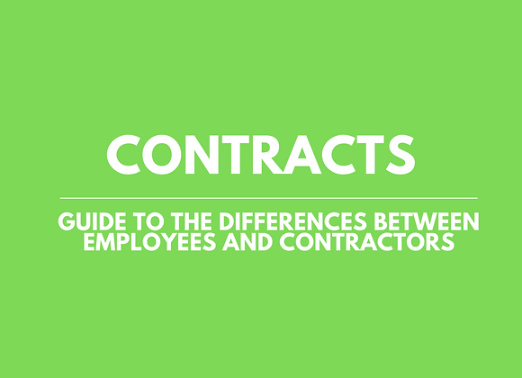 Guide to Differences between Contractors and Employees