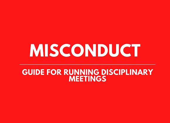 Guide for Employers Running Disciplinary Meetings
