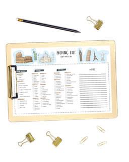 holiday packing checklistT