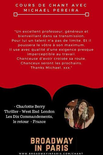 Charlotte Berry Thiller London Les Dix Commandements