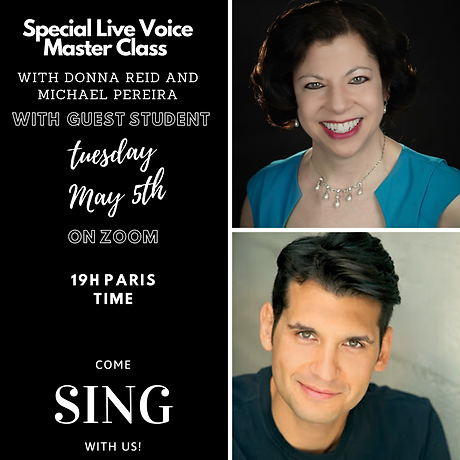Special Live Voice (Singing) Master Clas
