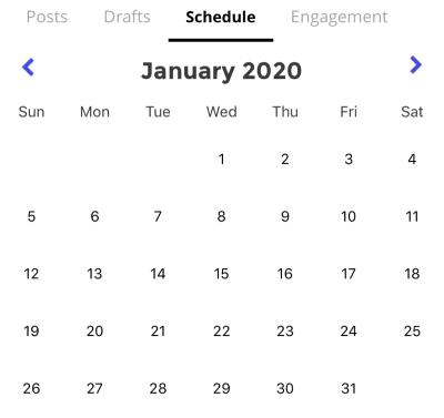 Calendar on January