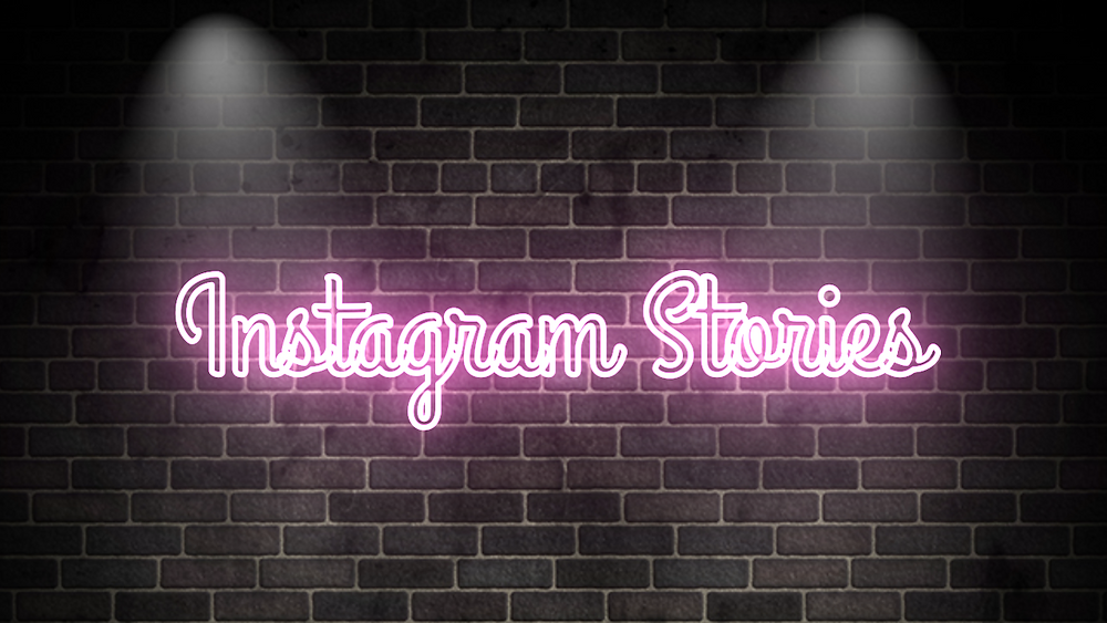 Instagram Stories in neon