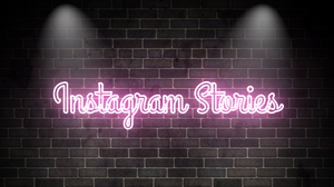 Instagram Stories in neon