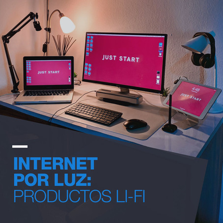 Internet por luz: Productos Li-Fi