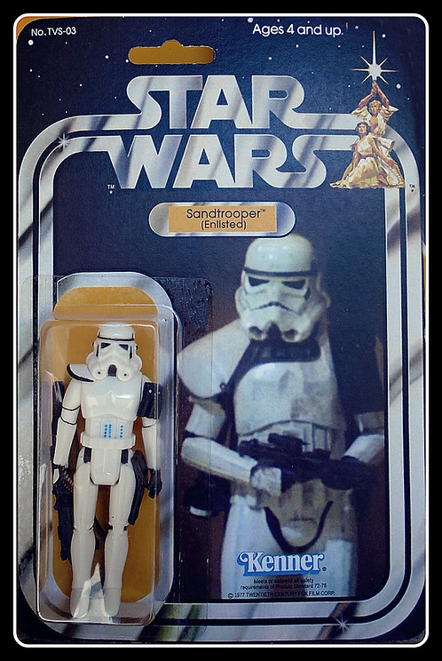 SANDTROOPER - WHITE PAULDRON  (Enlisted) CARDED