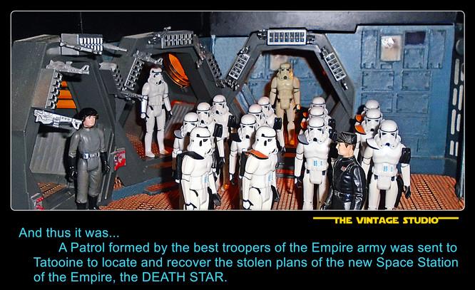 Sandtrooper patrol deploy