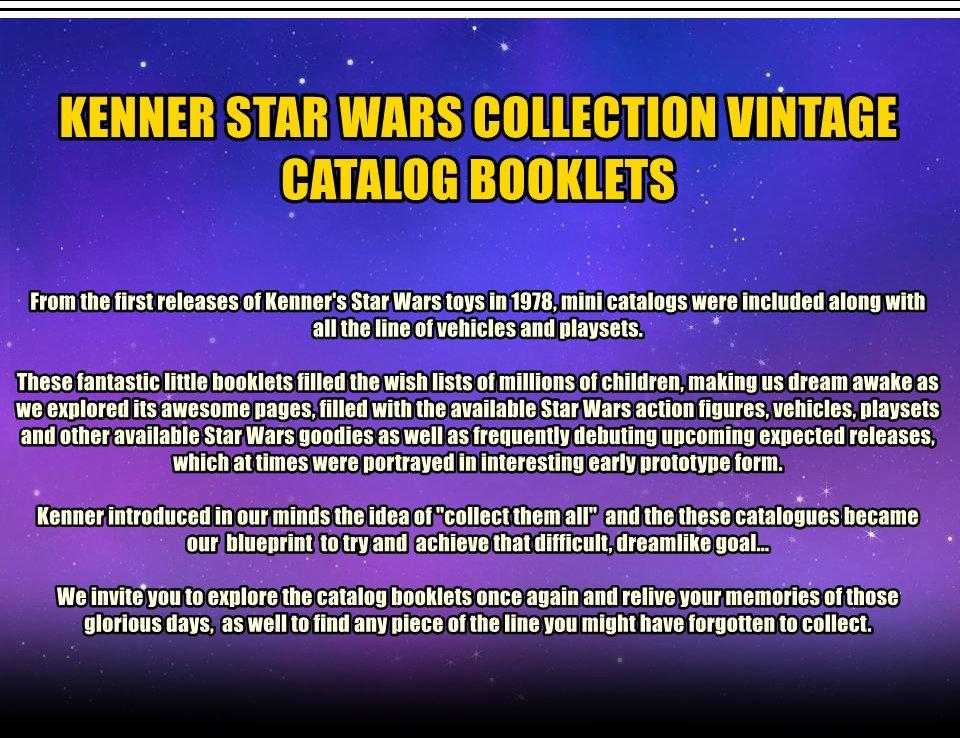 KENNER STAR WARS VINTAGE CATALOG BOOKLET