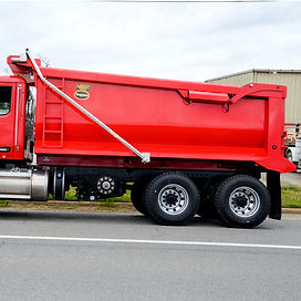 HilBilt Mongoose Dump Body shown tih optional side ladder.