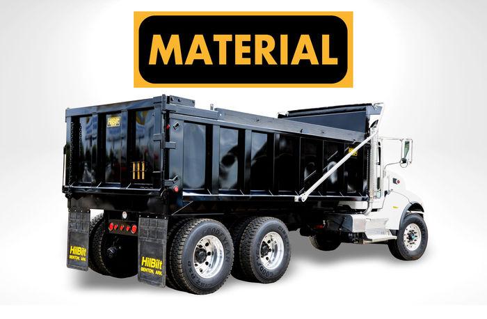 HilBilt Material Dump Body manufactured by HilArk Industries